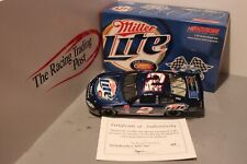 2003 Rusty Wallace Miller 600 Consective Start 1/24 Action Diecast Autographed