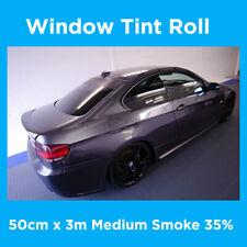 CAR WINDOW TINT ROLL TINTING FILM - 50cm x 3m - 35% MEDIUM SMOKE TINT FILM DIY