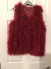 Red Fur Gilet Size Small