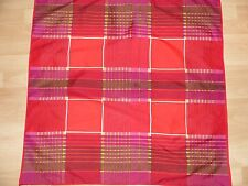 Vintage Nylon Red Geometric Square Scarf Mod