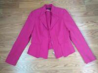WHBM White House Black Market Rose Pink Blazer Size 4