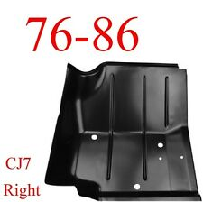 76 86 Jeep CJ7 Right Front Floor Pan, 0480-226