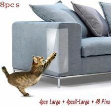 "8 Pcs Cat Furniture Protectors,4 Pack X-Large (20"" L x 12"" W) + 4 Pack Large"