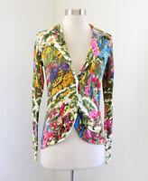 Monogram HWR Anthropologie Ajuda Fields Floral Cardigan Sweater Jacket Size XS