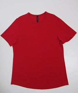 Lululemon Men's 5 Year Basic Tee *Updated Fit Bold Red Size L Stretch