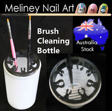 Nail Art Brush Cleaning Soaker Bottle Polish Remover Container Cup empty Holder