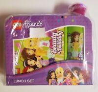 Lego Friends Lunch Set Sandwich Box Kit Drinking Bottle Back to School NEW GIRLS