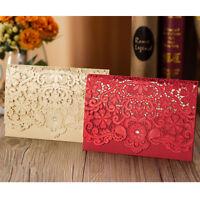 Elegant Personalised Laser Cut Wedding Day Evening Invitation Free P&P Envelopes