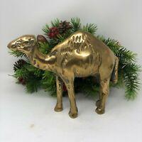 Vintage Brass Camel Figurine Desert Animal