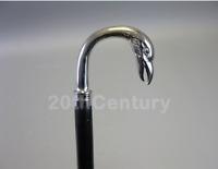 Vintage Silver Antique Eagle Brass Head handle Walking Cane Wooden Stick Gift