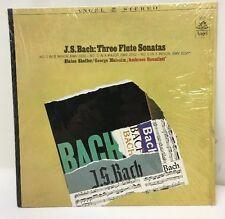 Bach Three Flute Sonatas Shaffer Malcolm Angel 36337 Lp Record Ex+ Shrink