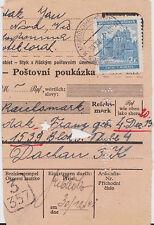 1941 Mahrisch BM to Germany Parcel Cover Dachau KZ Concentration Camp