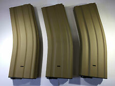 3 PCS BATTLEAXE M4/M16 450rds Metal Magazine set for Airsoft AEG Hi-Cap Mag(Tan)