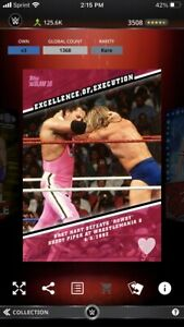Topps WWE Slam Excellence Of Execution Wrestlemania 8 Bret Hitman Hart 1368cc