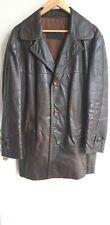 *RAR* Vintage Oldschool 70er Jahre Stil Lederjacke Ledermantel Gr. L-XL / 52-54
