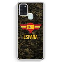 Espana Spanien Camouflage mit Schriftzug Hülle für Samsung Galaxy A21s Motiv ...