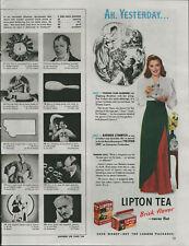 1947 Barbara Stanwyck Actress in Lipton Tea Brisk Flavor Vintage Print Ad 364
