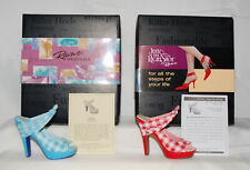 Just The Right Shoe by Lorraine Vail Shoe Miniatures- Picnic & Red & White
