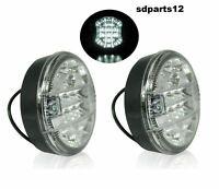 2x Feux de Recul LED Arrière 12/24V Lumière Blanche Pour Camion Tracteur Fourgon