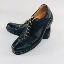 Sandro Moscoloni Mens Size 10 D Black Oxford Lace Up Shoes Split Toe Brazil