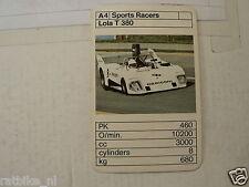 49-BOLIDES RACE CARS A4  LOLA T380   KWARTET KAART,