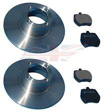 Pair of New Brake Rotors & Pads MG Midget Austin Healey Sprite Steel Wheels