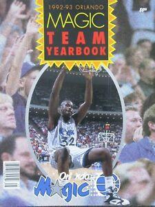VINTAGE 1992-93 ORLANDO MAGIC TEAM YEARBOOK COLOR PHOTOS SHAQ KERR SCOTT NBA