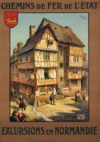 Affiche Originale Art Déco - ALO - Normandie- Bayeux - Calvados - 1922