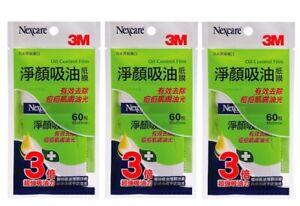 3M Nexcare Oil Control Film Anti-Acne 60 Sheets x 3 Packs