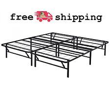 """Foldable 14"""" Steel Bed Frame Bedroom Furniture King Size Black Frame Only"""