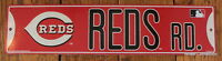 Street Sign Cincinnati Reds Rd. MLB Lic Baseball full colorful picture Go Reds