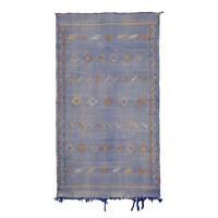 Moroccan Sabra Cactus Silk Rug Carpet from Morocco 194x106cm / 6.4x3.5ft. (SR13)