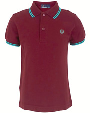 Fred Perry Herren Polo Poloshirt Shirt Classic Gr.XS Slim Fit Wein Rot 96870