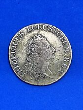 1780 German States Prussia Silver Thaler Coin - Free Shipping!