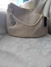 DKNY Donna Karan Tan Crosby Tubular Pebbled Leather Hobo Shoulder Bag w/Tag