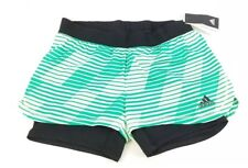 Adidas Soccer Women's Green 2-In-1 Tango Climalite Performance Shorts Large