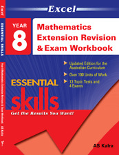 EXCEL YEAR 8 MATHEMATICS EXTENSION REVISION AND EXAM WORKBOOK FREE SHIPPING