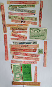 Large Lot Vintage U S  Alcohol Stamps Revenues Taxpaid Liquor Bottle Strips