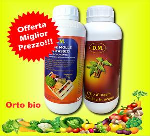 Sapone Molle di Potassio 1 kg + 1 lt  olio di neem solubile acqua idrosolubile