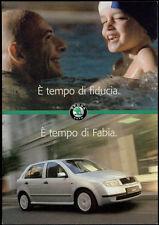 cartolina pubblicitaria PROMOCARD n.2889 SKODA FABIA AUTOMOBILE CAR