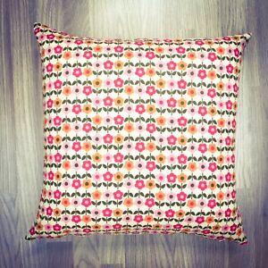 141. VB Folkloric reverse Orange 100% Cotton Cushion Cover. Various sizes
