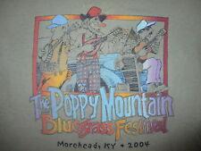 vtg POPPY MOUNTAIN BLUEGRASS FESTIVAL CONCERT T SHIRT Morehead Kentucky 2004 SM