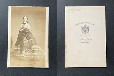 Spingler, Paris, L'impératrice Eugénie, circa 1865 vintage cdv albumen prin