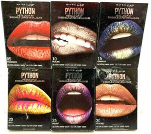 (6) Maybelline New York Python Metallic Lip Kit New & Sealed No Repeats