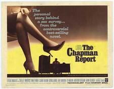 CHAPMAN REPORT Movie POSTER 22x28 Half Sheet Shelley Winters Jane Fonda Claire