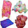 """1 pair 1.8m*0.9m (70""""x35"""") light sturdy tie-dye belly dance silk fan veil+bag"""