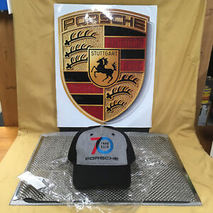 PORSCHE DESIGN DRIVER'S SELECTION BLK. 70 YEARS OF PORSCHE COMMEMORATIVE HAT.