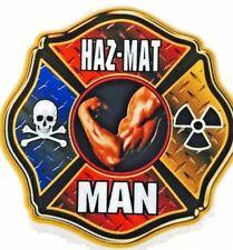 "HAZ-MAT MAN Full Color REFLECTIVE Hazardous Material  DECAL - 4 x 4"""