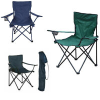 Milestone 1-Seater Folding Fishing/ Camping Chair with Cup Holder & Carry Bag