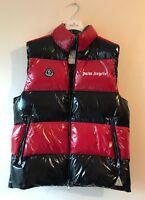 Mens Designer Moncler Palm Angels Body Warmer Gilet Waistcoat Jacket Black Red